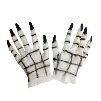 Halloween Horror Monster Devil Vampire Ghost Hands Gloves Costume Cosplay Prop