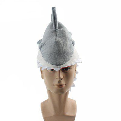Unisex-Adults Halloween Shark Headwear Role Party Decorative Hat Props
