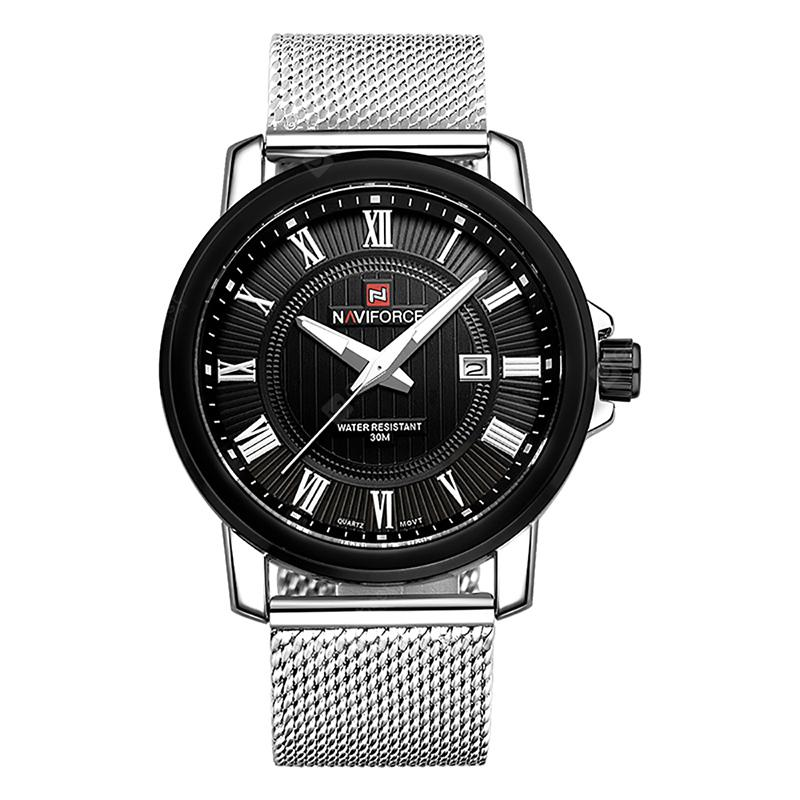 NAVIFORCE 9052 Quartz Steel Belt Watch