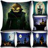 Halloween Ghost Witch Pumpkin Pillowcases Seat Sofa Pillow Cover Linen Cotton - MULTI-C