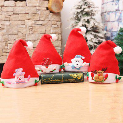4PCS Kids' Holiday Inspirational Textile Hats for Home Christmas Party