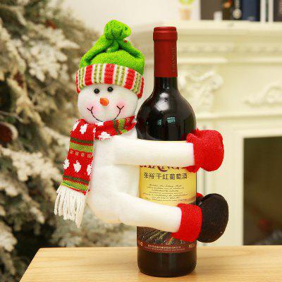2PCS Christmas Decoration Lovely Santa Claus Wine Bottle Covers