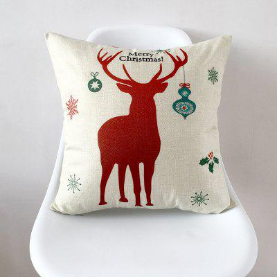 Cushion Covers Christmas Decorations For Home Cotton Linen Pillow Cover