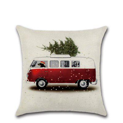 Christmas Cotton Linen Sofa Car Home Waist Cushion Cover Throw Pillow
