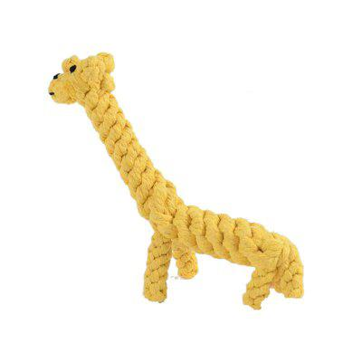 Pet Chew Toy Dog Toys Hand-Made Refined Cotton Rope Weaving Giraffe Dog Toys