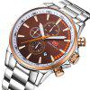 MINI FOCUS Mens Stainless Steel Wrist Watches Clocks Calendar Chronograph - BROWN