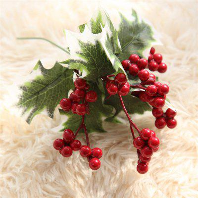 Christmas Day Artificial Flower Red Berries Decorations