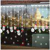 Popular Electrostatic Membrane Wall Stickers White Christmas Wall Stick - WHITE