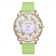 Fashion Luxury Women Watch Quart Watch PU Leather Watch