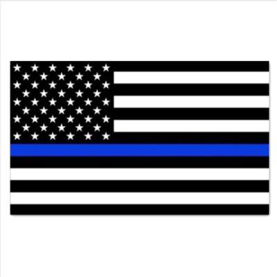 10 PCS Police Officer Thin Blue Line bandiera americana Vinyl Decal adesivi per auto