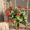 Christmas Red Berries Artificial Flower Home Party Wedding Decorations - RED