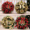 Merry Christmas Wreath with Bow Handcrafted New Year Elegant Holiday - YELLOW