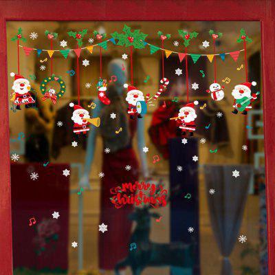 Christmas Store Window Glass Flakes Decorative Wall Stickers Door Festival