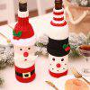 YEDUO  Wine Bottle Set Santa Claus Xmas Wine Gift Bag Decor Cover Cap Clothes - RED