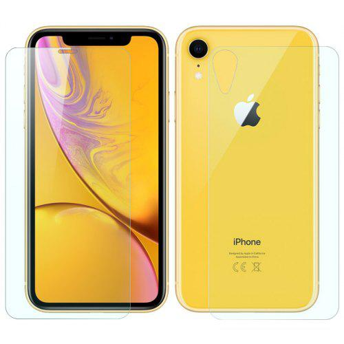 huge selection of 9224e 5638f Mrnorthjoe Front and Back Tempered Glass Film for iPhone XR