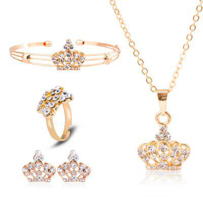 Luxuriöse Schmucksets Exquisite Crown Jewellery Four Piece Set