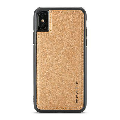 WHATIF DIY Kraftpapír TPU keret PC hátlap Slim telefon tok iPhone XS max