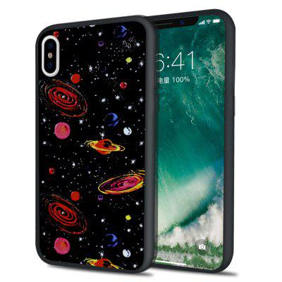 Milky Way Mars Illustration Glass Case Hard Back Cover for iPhone  X / XS