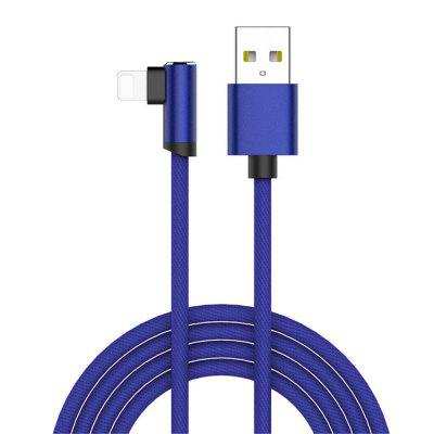 90 Degree 8 Pin USB Cable 2m / 6 ft for iPhone Charger Fast Speed Data