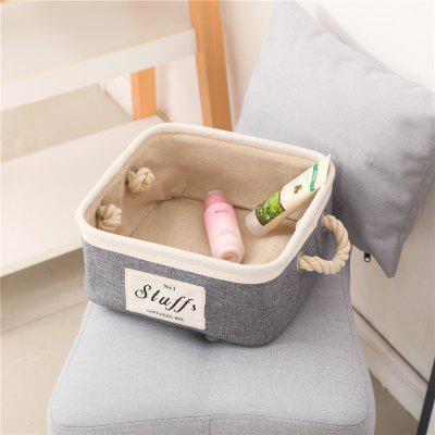 Storage Box Brief Style Linen Socks Toys Makeups Desk Organizer