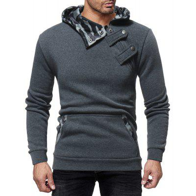 Men's Fashion Diagonal Zipper Casual Slim Sports Sweatshirt