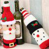 Christmas Decorations Elk Wine Bottle Cover Knitted Champagne Wine Bottle - MULTI