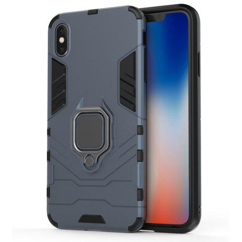 Ring Buckle Kickstand Armor Case for iPhone XS Max