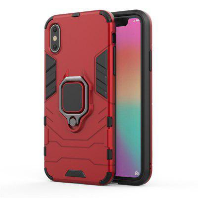 Ring Buckle Kickstand Armor Case for iPhone XS