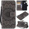 Sunflower Embossing PU Leather Wallet Stand Flip Case for Xiaomi Mi A2 Lite - Γκρί