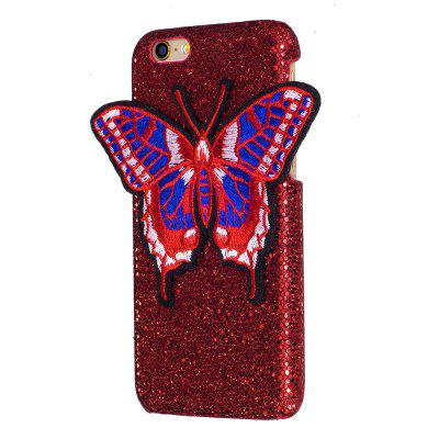 Breien vlinder voor iPhone 6 / 6S Plus Case Glitter Cover