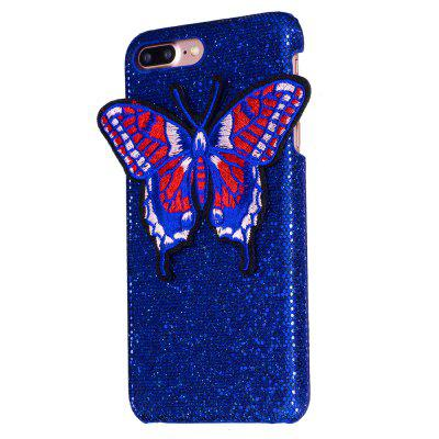Breien vlinder voor iPhone 7 Plus Case Glitter Cover