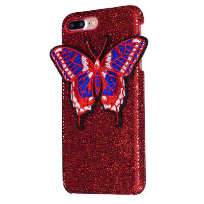 Kötés pillangó iPhone 7 Plus Case Glitter Cover-hez