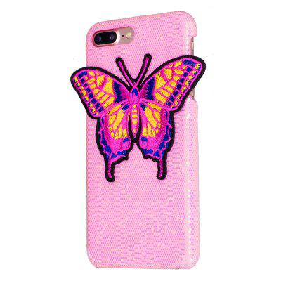 Mariposa tejida para iPhone 7 Plus Funda Glitter