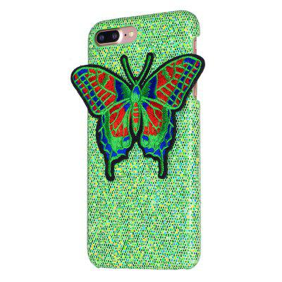 Mariposa tejida para iPhone 7 Plus Funda Glitter Cover