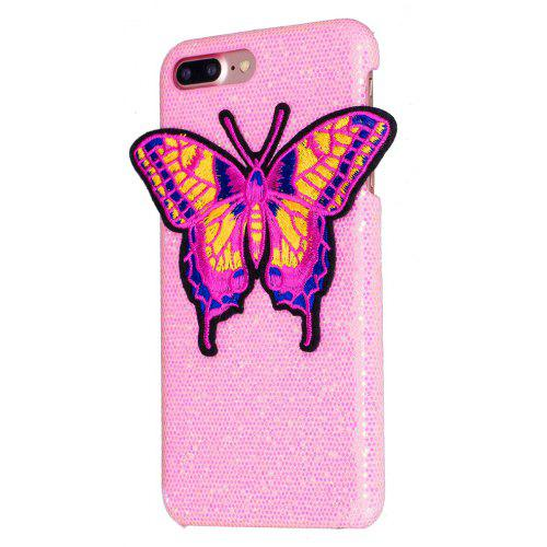 Knitting butterfly for iPhone 7 Plus Case Glitter Cover