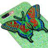 Knitting butterfly for iPhone 7 Plus Case Glitter Cover - GREEN