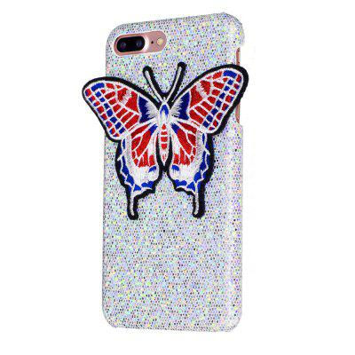 Strickender Schmetterling für iPhone 8 Plus Hülle Glitter Cover