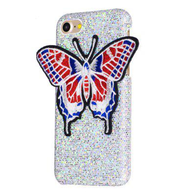 Knitting butterfly dla iPhone 8 Case Glitter Cover