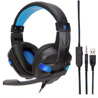 Drive-By-Wire Gaming Headphone for PC/PS4/Xbox One with LED Light