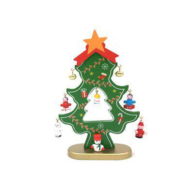 Christmas Tree DIY Wooden Table Decoration Home Ornaments 18CM