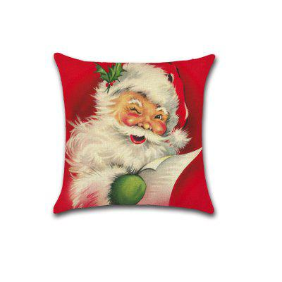 Festive Pillowcases Elegant Nice Pillowslip Pattern Father Christmas