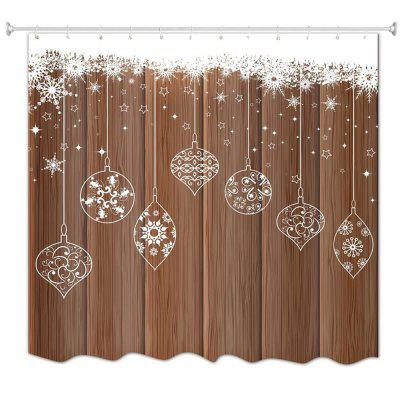 Wood Flake Ball Water-Proof Polyester 3D Printing Bathroom Shower Curtain