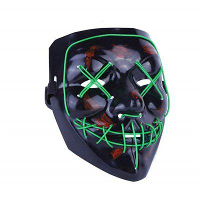 Light Up LED Mask Halloween Scary Mask Costume for Men Women Kids