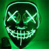 Light Up LED Mask Halloween Scary Mask Costume for Men Women Kids - GROEN