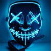 Light Up LED Mask Halloween Scary Mask Costume for Men Women Kids - JEANS BLUE