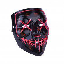 Party Supplies Light Up LED Mask Halloween Scary Costume For Men Women Kids