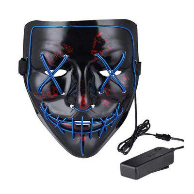 Maschera di Halloween LED Light up Maschera di purificazione per Festival Cosplay Costume di Halloween
