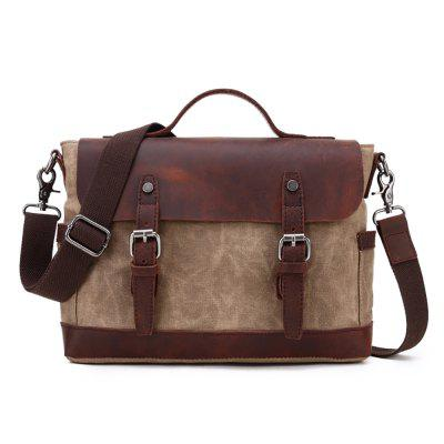 LOUIS JASON LJ Men's Casual Crazy Leather Travel Shoulder Bag