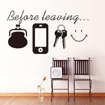 Inspirational Proverbs Patterned PVC Wall Sticker