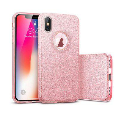 Mode Luxe Beschermende Hybrid Beauty Crystal Rhinestone Sparkle Hard Diamond Case Cover voor iPhone X